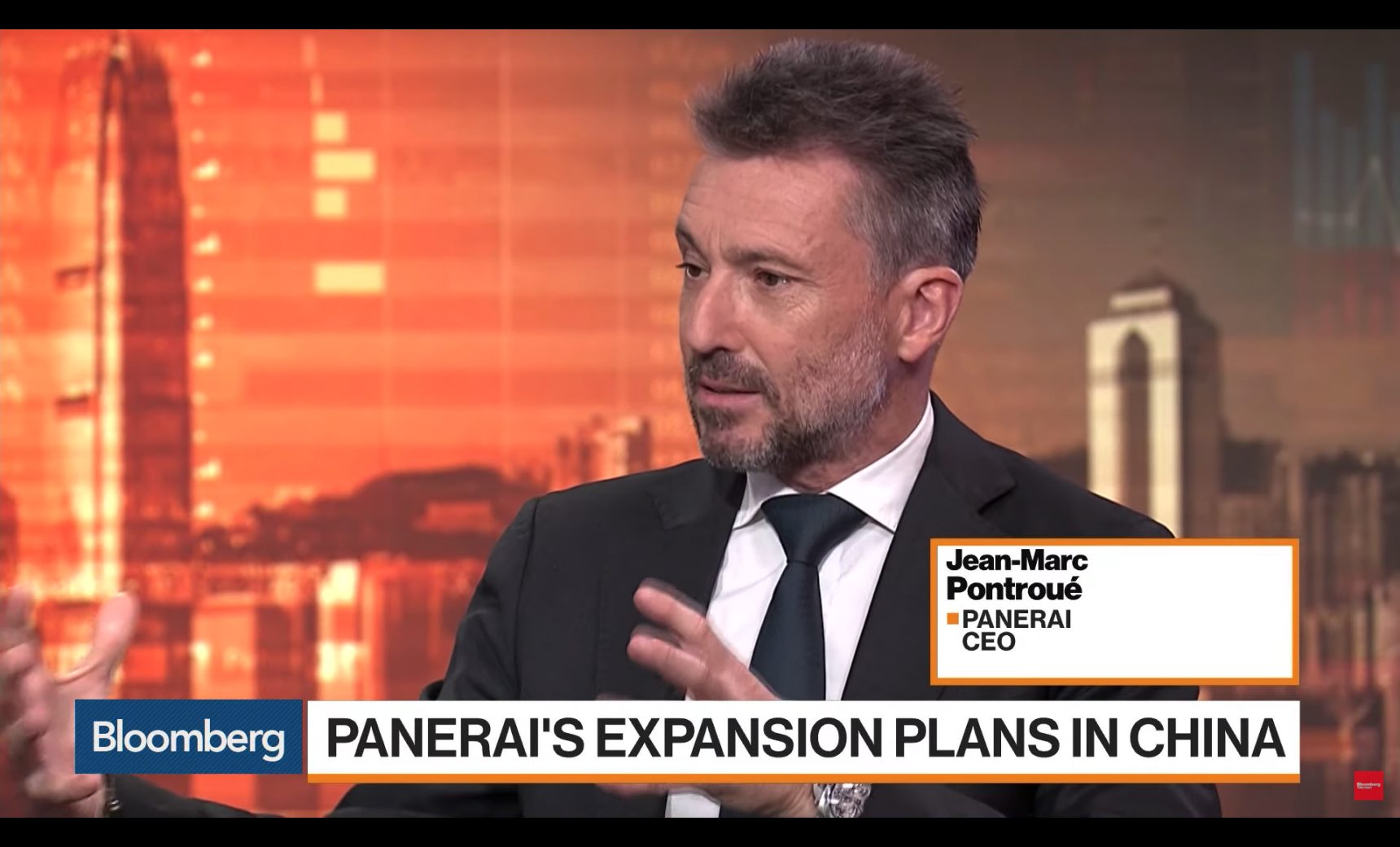 JEAN-MARC PONTROUÉ INTERVIEW ON BLOOMBERG TV HONG KONG