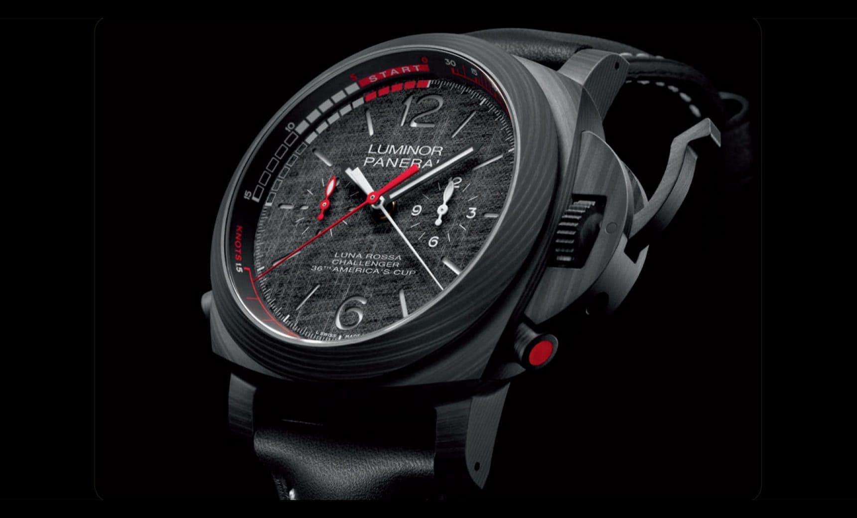 PANERAI LUMINOR LUNA ROSSA. AUTHENTICITY AND IDENTITY. COMPACT, HIGH PERFORMANCE, DOMINANT.