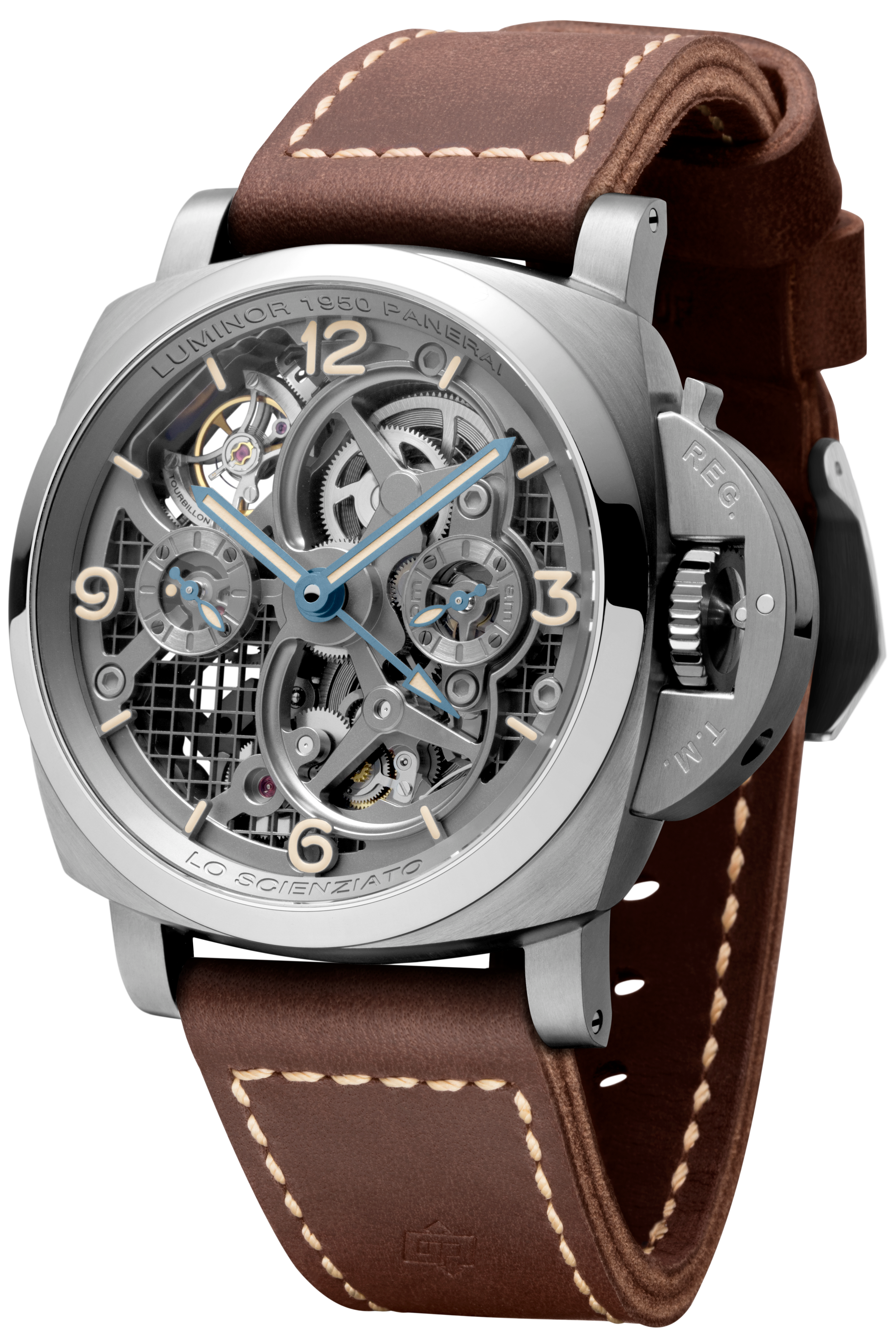 PNPAM00578 - Lo Scienziato - Luminor 1950 Tourbillon GMT Titanio - 47mm