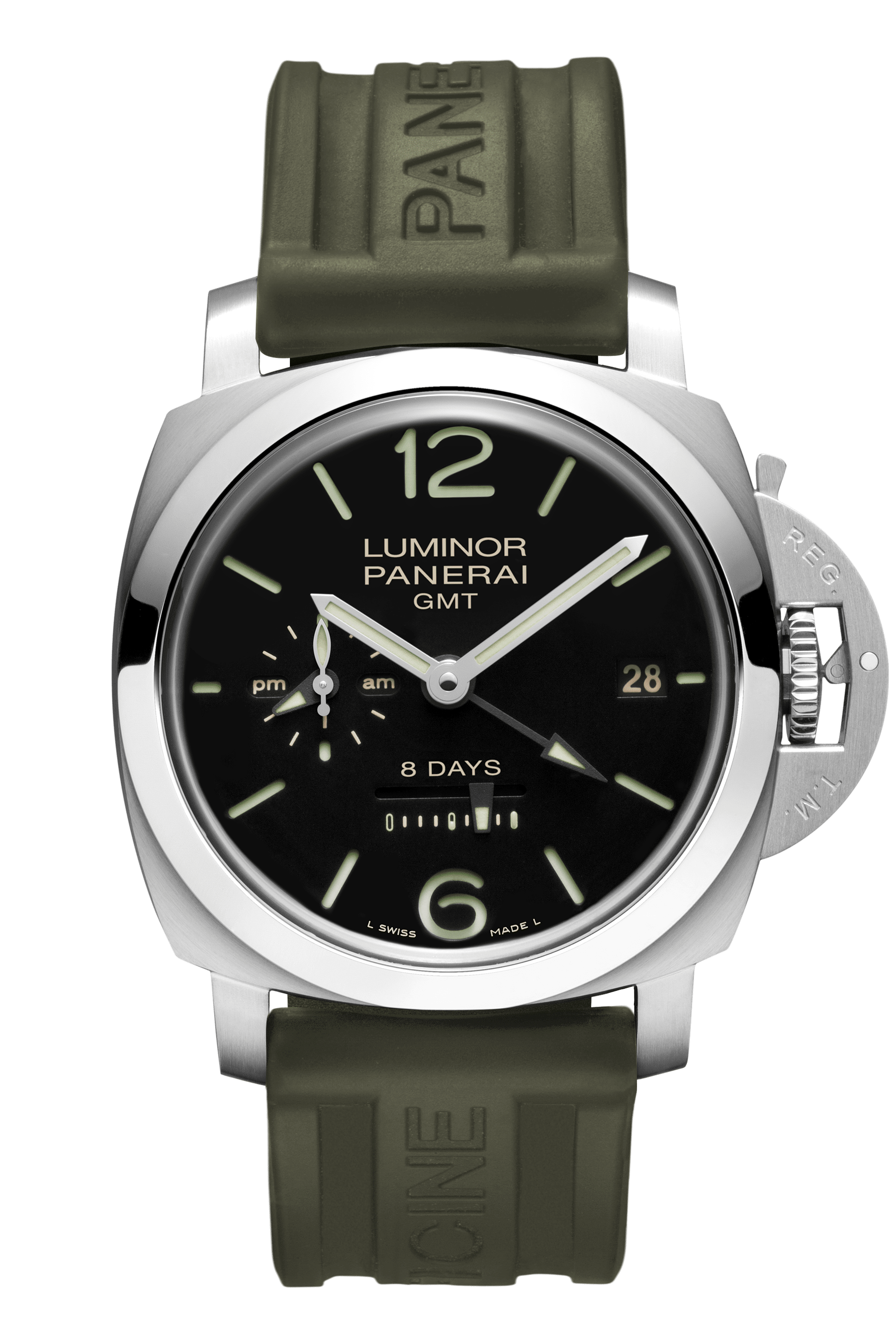 PNPAM00233 - Luminor 8 Days GMT - 44mm