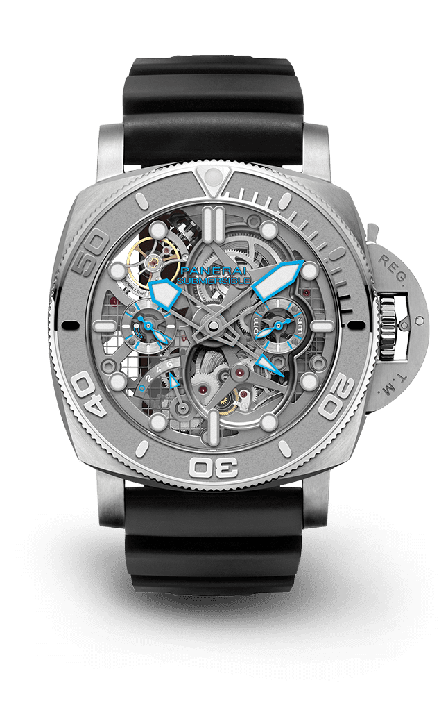 PNPAM01108 - Submersible EcoPangaea™ Tourbillon GMT - 50mm  Mike Horn Edition