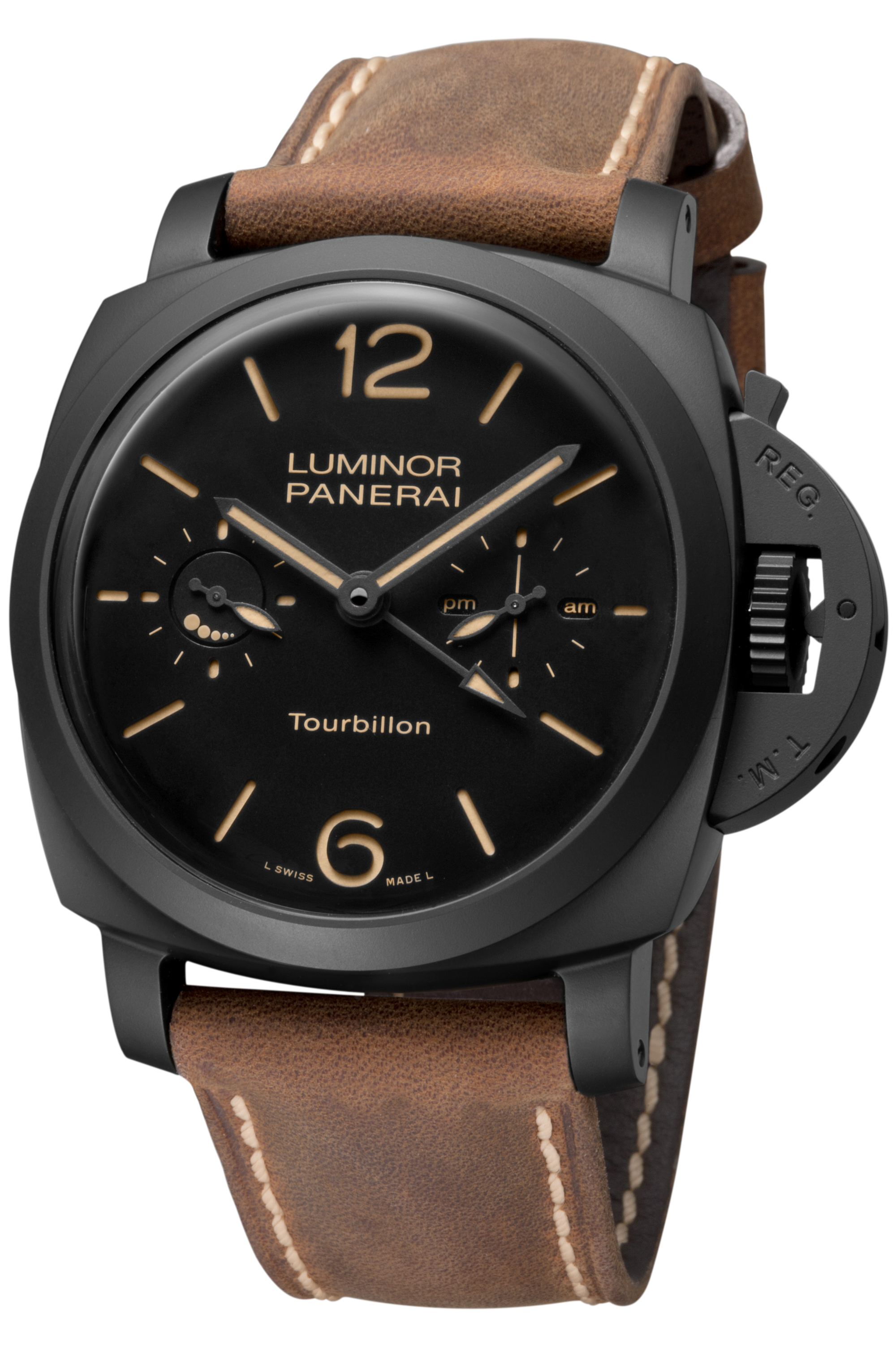 PNPAM00396 - Luminor 1950 Tourbillon GMT Automatic Ceramica - 48mm