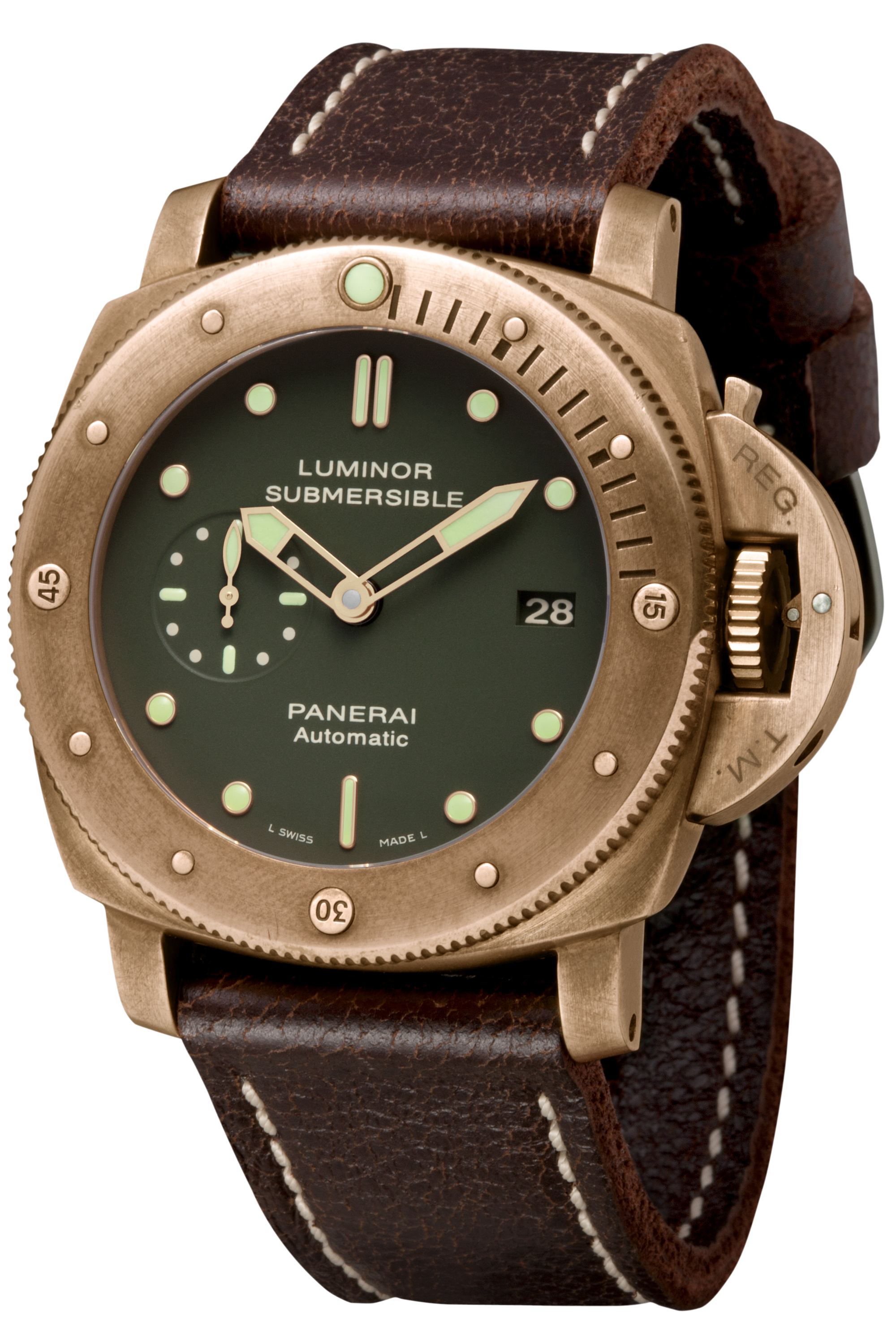 PNPAM00382 - Luminor Submersible 1950 3 Days Automatic Bronzo - 47mm