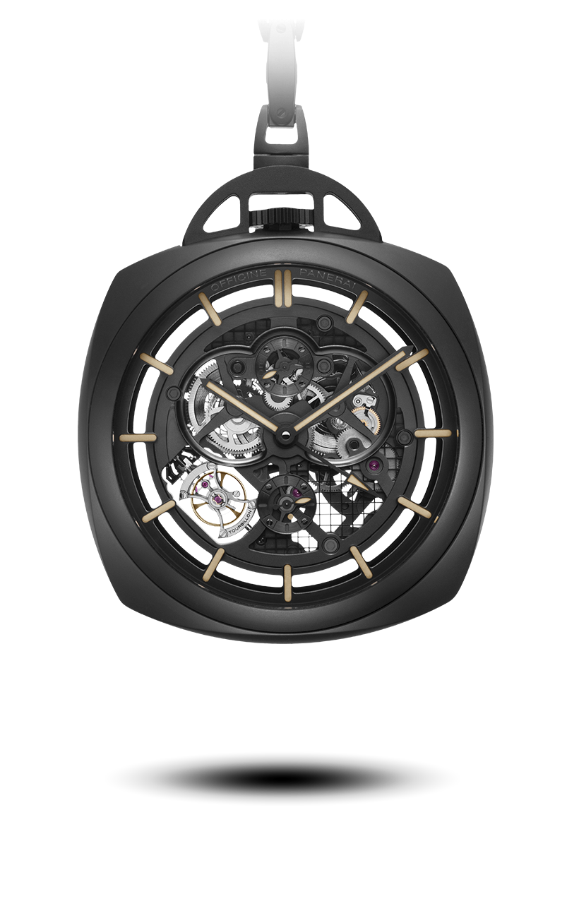PNPAM00446 - Pocket Watch Tourbillon GMT Ceramica - 59mm